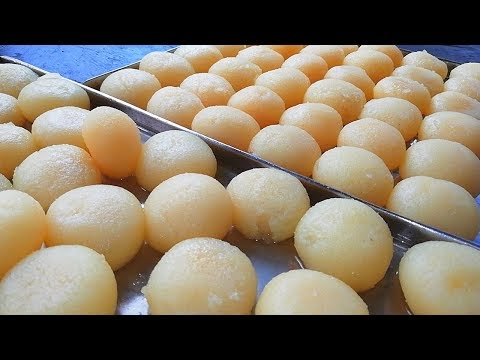 Mouth Watering Bengali Sponge Rasgulla Sweet Recipe With Eng-Sub - Indian Sweets Making Video 2018