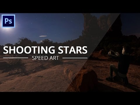 Shooting Stars - Speed art [Photoshop]