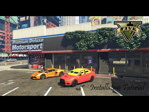 GTA 5 Premium Deluxe Motorsport Car Dealership Mod Showcase and Installation