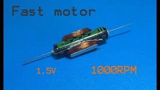 Amazing 1000RPM brushless motor with small AAA 1. 5v battery