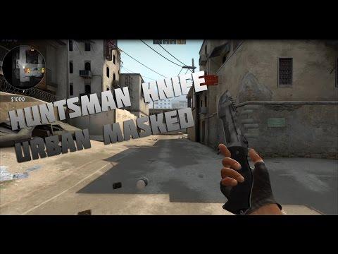 CS:GO Skin Showcase - Huntsman Knife   Urban Masked