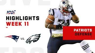 Patriots Defense Stops Eagles w/ 5 Sacks | NFL 2019 Highlights