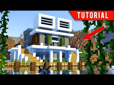 Minecraft - How to build a modern house (Futuristic Mansion)