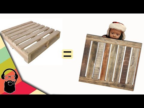 Building a baby gate out of a pallet