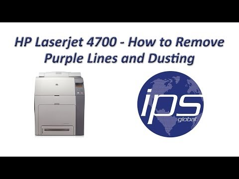 HP 4700 - How to Remove Purple Lines and Dusting Updated