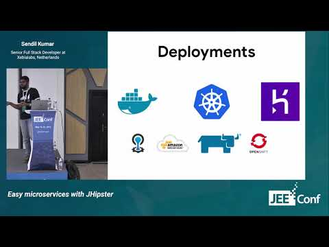 Easy microservices with JHipster (Sendil Kumar, Netherlands)