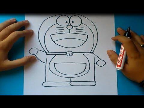 Como dibujar a Doraemon paso a paso - Doraemon | How to draw Doraemon - Doraemon