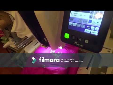 Embroidering a Jacket using a Brother Persona PRS100