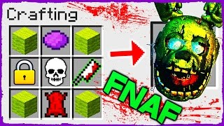 Minecraft FNAF - How to Summon SPRINGTRAP in Crafting Table!