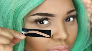 HOW TO USE EYEBROW STENCIL | PERFECT EYEBROWS