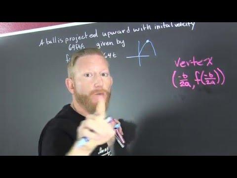 Maximum Height of a Ball Quadratic Word Problem