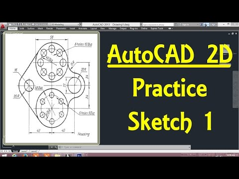 2D Autocad practice drawing 1In AutoCAD By Engineer AutoCAD Tutorials