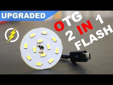 Make Dual Micro Usb Otg Selfie Flash Light For Mobile Phone - Easy Way