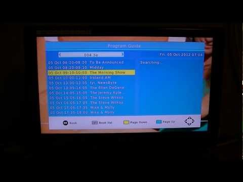TV Star T1020 HD Irish Digital TV Receiver - EPG & Info Buttons