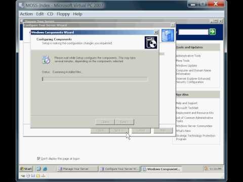 SharePoint 2007 Farm Installation - Part 2 MOSS Index Server Installation