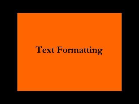 Text Formatting: Font size, Bold, Underline, Strikethrough