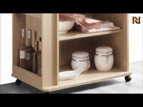 Nexera Storage Microwave Cart 597