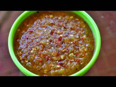Tomatillo Salsa with Chile de Arbol Recipe