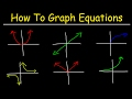 How To Graph Equations - Linear, Quadratic, Cubic, Radical, & Rational Functions
