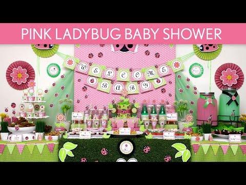 Pink Ladybug Baby Shower Party Ideas // Pink Ladybug - S52