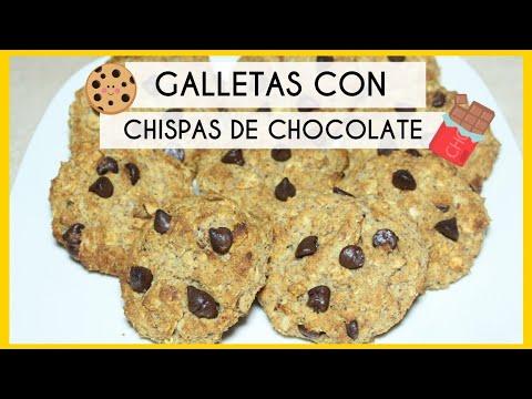 GALLETAS CON CHISPAS DE CHOCOLATE   SALUDABLES 🌱🍃