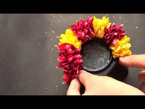 How to string rose petal garland?