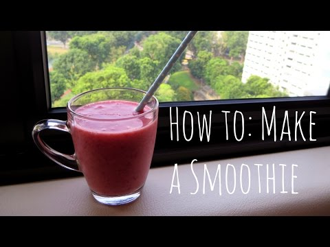 How to make : A smoothie (Strawberry, Raspberry & Banana)
