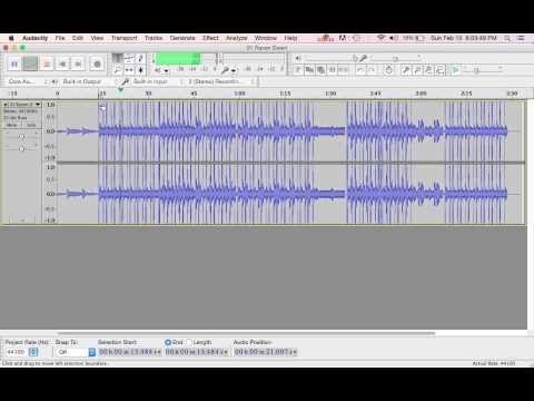 Changing Tempo in Audacity Tutorial