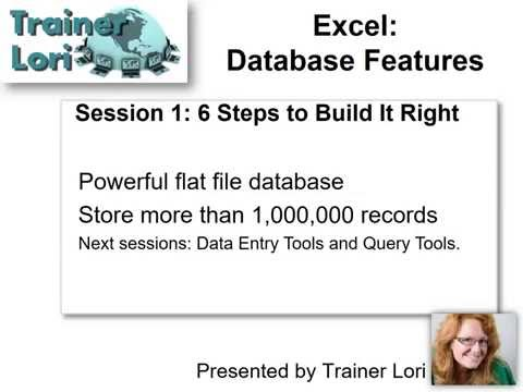 Excel Database Features Part 1 Build it Right