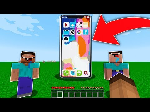 HOW TO MAKE A REAL IPHONE X IN MINECRAFT!