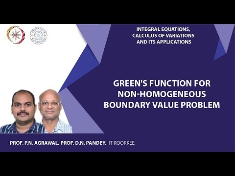 Green's function for non-homogeneous boundary value problem