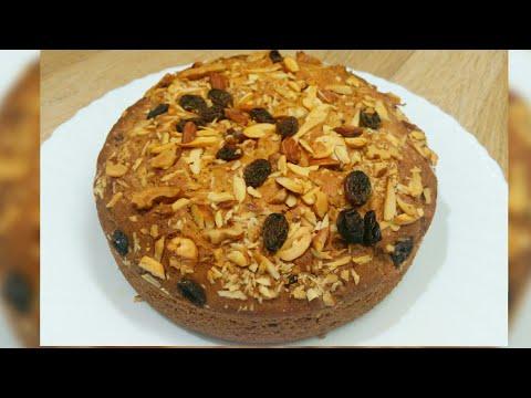 Eggless Dry Fruit Cake In Pressure Cooker | Vanilla Dry Fruit Cake Without Oven | Dry Fruit Cake....