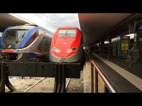 Train compilation in Naples central station