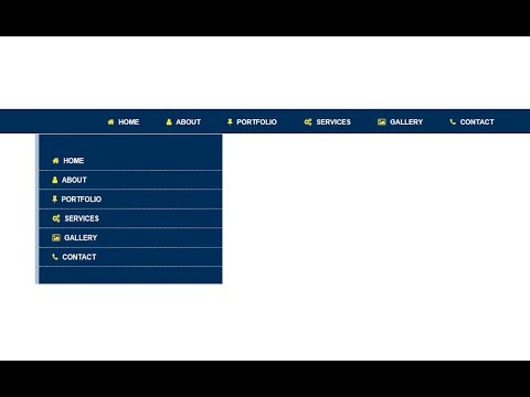 Responsive navigation menus with html and css