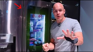A Transparent OLED TV in a Refrigerator?! - CES 2020!