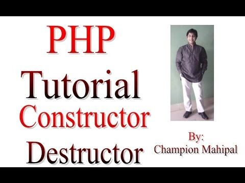 Learn PHP Tutorial 24 Constructor and Destructor