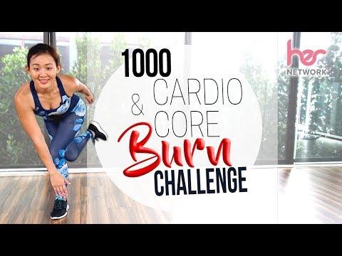 1000 Cardio & Core 🔥 BURN 🔥 Challenge | Joanna Soh