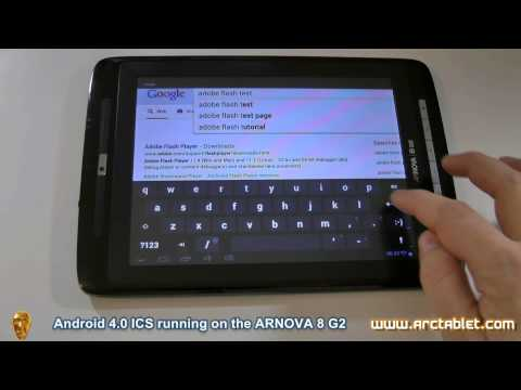 Arnova 8 G2 Android 4.0 ICS firmware with Google Play and full root