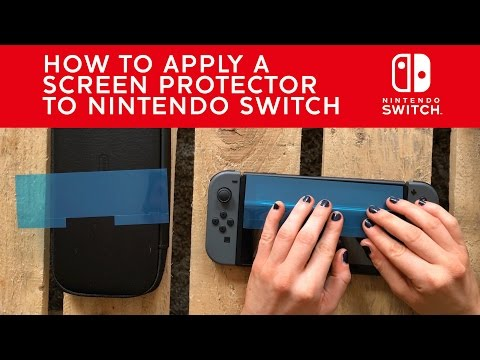 How to apply a Screen Protector to Nintendo Switch