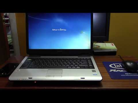 Toshiba Satellite A135: Hard Drive & Windows Install
