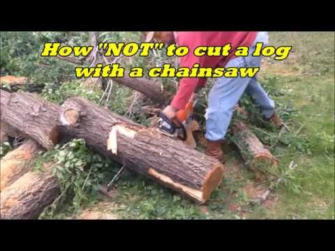 DIY Tip when using a Chainsaw to Cut a Large Log