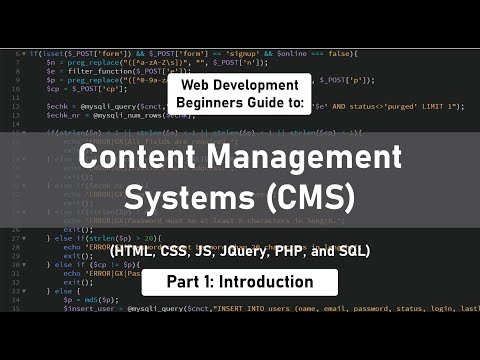 How to build a Content Management System [Part 1] (HTML, CSS, JS, JQuery, PHP, & MySQL)