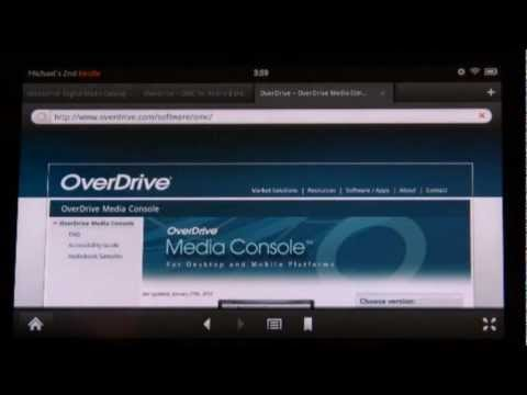 Downloading audiobooks and ebooks for your Kindle Fire with the Overdrive App