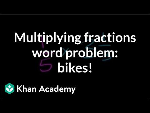 Multiplying fractions word problem: bike to a friend | Fractions | Pre-Algebra | Khan Academy