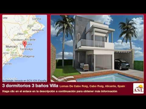 3 dormitorios 3 baños Villa se Vende en Lomas De Cabo Roig, Cabo Roig, Alicante, Spain