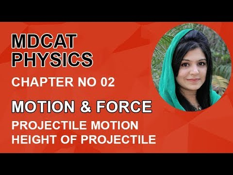MDCAT Physics Lecture Series, Ch 2, Height of Projectile, Physics Entry Test, ch 2