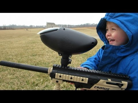 Funny Paintball Kid!!