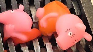 Shredding Peppa Pig Family Toys WOW