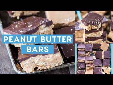 No Bake Crunchy Chocolate Peanut Butter Bars