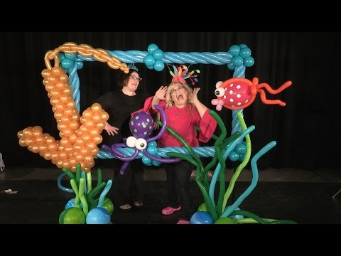 Balloon Photo Frame (Under-The-Sea Theme) ~ DIY Tutorial
